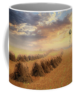 Coffee Mug featuring the photograph Misty Amish Sunrise by Lori Deiter