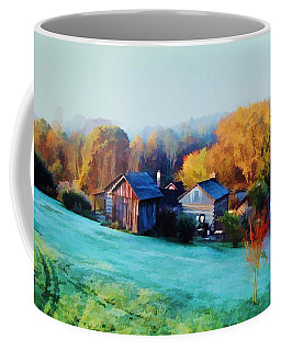 Coffee Mug featuring the photograph Misty Autumn Day by Diane Alexander
