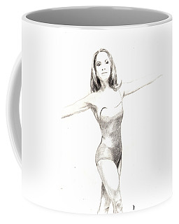 Misty Ballerina Dancer II Coffee Mug