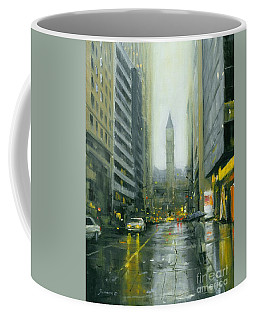 Misty Bay Street Coffee Mug by Michael Swanson