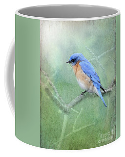 Coffee Mug featuring the photograph Misty Blue by Betty LaRue