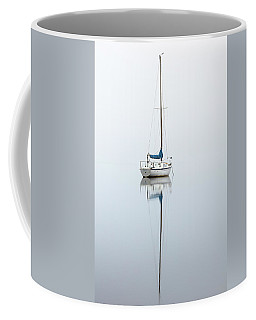 Coffee Mug featuring the photograph Misty Boat by Grant Glendinning