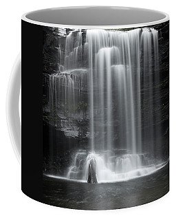 Misty Canyon Waterfall Coffee Mug by John Stephens