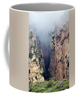 Coffee Mug featuring the photograph Misty Canyons by Phyllis Denton