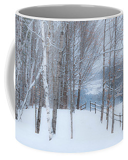 Misty Christmas Eve Woods Coffee Mug