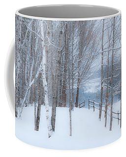 Misty Christmas Eve Woods Coffee Mug