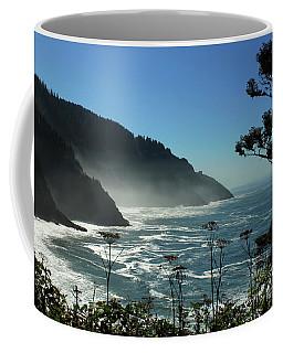 Misty Coast At Heceta Head Coffee Mug by James Eddy