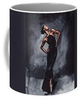 Misty Copeland Ballerina Dancer In A Black Dress Coffee Mug