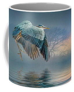 Misty Dawn Heron Coffee Mug