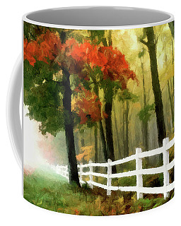 Coffee Mug featuring the painting Misty In The Dell P D P by David Dehner