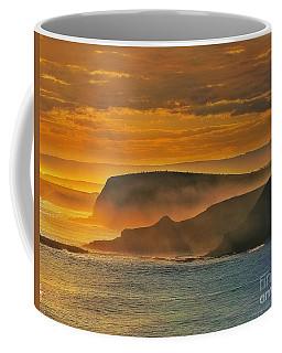 Misty Island Sunset Coffee Mug