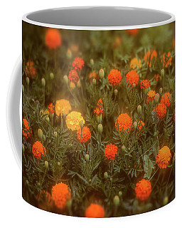 Coffee Mug featuring the photograph Misty Marigolds by John Brink