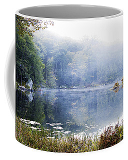 Misty Morning At John Burroughs #1 Coffee Mug by Jeff Severson