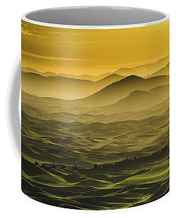 Misty Morning At Palouse. Coffee Mug