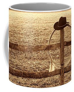 Misty Morning At The Ranch Coffee Mug