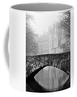 Misty Morning Canal In Bruges Coffee Mug