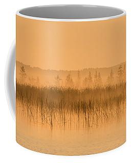 Misty Morning Floating Bog Island On Boy Lake Coffee Mug