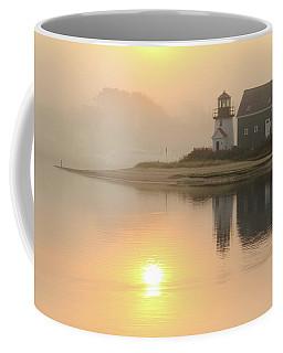 Misty Morning Hyannis Harbor Lighthouse Coffee Mug