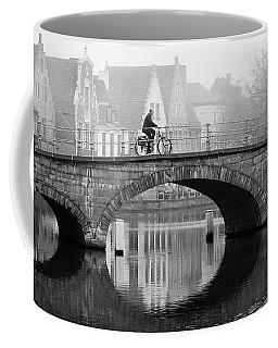 Misty Morning In Bruges  Coffee Mug