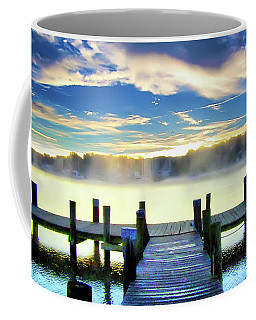 Coffee Mug featuring the photograph Misty Morning On Rock Creek by Brian Wallace