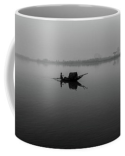 Coffee Mug featuring the photograph Misty Morning On The Lower Ganges by Chris Cousins
