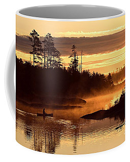 Coffee Mug featuring the photograph Misty Morning Paddle by Larry Ricker