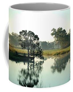 Misty Morning Pond Coffee Mug