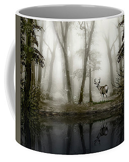 Coffee Mug featuring the photograph Misty Morning Reflections by Diane Schuster