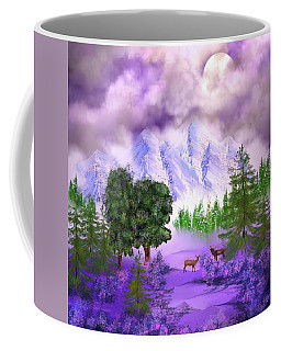 Misty Mountain Deer Coffee Mug