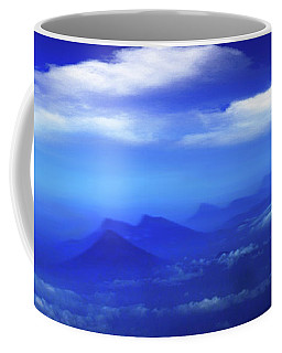 Misty Mountains Of San Salvador Panorama Coffee Mug by Al Bourassa
