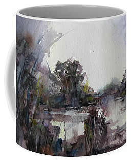 Misty Pond Coffee Mug by Geni Gorani
