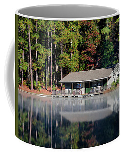 Coffee Mug featuring the photograph Misty Reflection At Durant by George Randy Bass