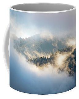 Coffee Mug featuring the photograph Misty Ridge 2 by Michael Hope