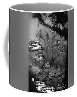 Coffee Mug featuring the photograph Misty River by Elaine Teague