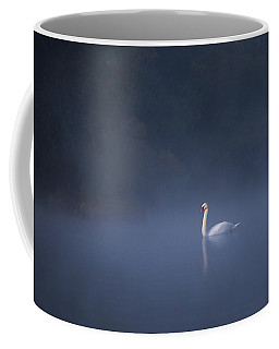 Misty River Swan Coffee Mug