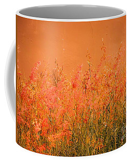Misty Yellow Hue- Pink Blooms Coffee Mug
