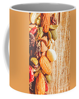 Mixed Nuts On Wooden Background Coffee Mug