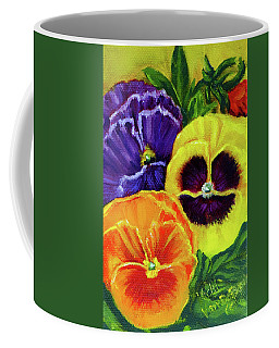 Mixed Pansies Coffee Mug