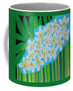 Coffee Mug featuring the painting Mixed Up Plumaria by Deborah Boyd