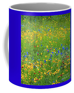 Coffee Mug featuring the photograph Mixed Wildflowers In Bloom 538 by D Davila