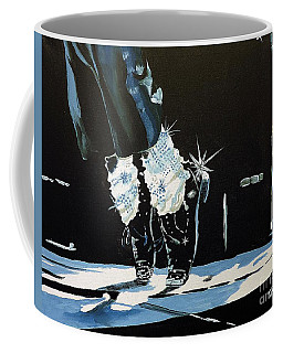 Coffee Mug featuring the painting Mj On His Toes by Tom Riggs