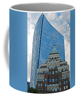 Coffee Mug featuring the photograph M N P Tower And Marine Building Vancouver 2015 by Connie Fox