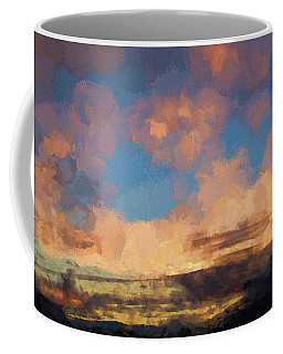 Moab Sunrise Abstract Painterly Coffee Mug