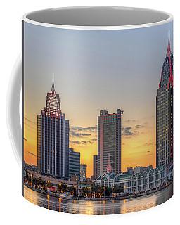Mobile Skyline At Sunset Coffee Mug