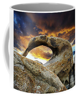 Coffee Mug featuring the photograph Mobious Arch California 7 by Bob Christopher