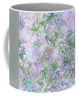Mock Floral Purple Teal Coffee Mug