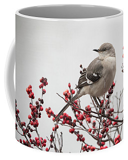 Mockingbird And Berries Coffee Mug
