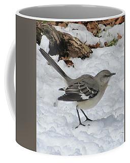 Mockingbird In The Snow Coffee Mug