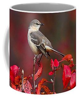 Mockingbird On Red Coffee Mug