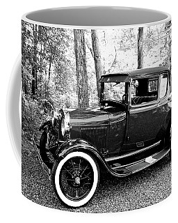 Coffee Mug featuring the photograph Model A In Black And White by Trina Ansel